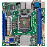 ASRock Rack E3C224D2I LGA1150/ Intel C224/ DDR3/ SATA3&USB3.0/ V&2GbE/ Mini-ITX Server Motherboard